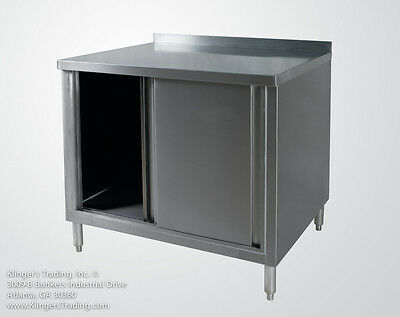 24x72 Stainless Steel Work Table Storage Cabinet With Back Splash