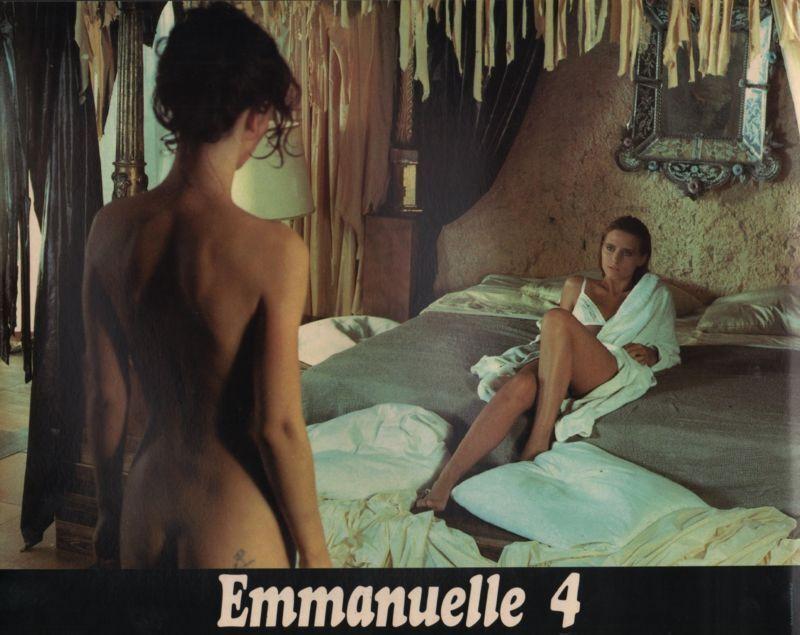 "MYA NIGREN & SYLVIA KRISTEL in ""Emmanuelle 4"" - Original LOBBY CARD - 1984"