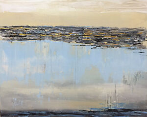 Original Contemporary Abstract Painting on Canvas 16x20 New