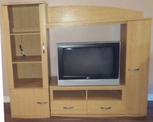 Meuble Mural Stand TV Centre de Divertissement Télé Console
