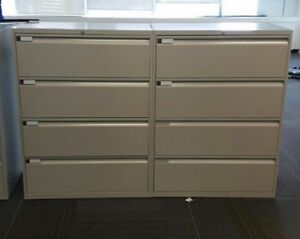 Lateral Filing Cabinets; 4 drawer lateral filing cabinet