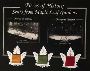 Toronto first and last game gardens photo with 3 pieces of seat