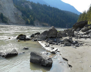 Placer gold claim of Fraser river by Lilooet