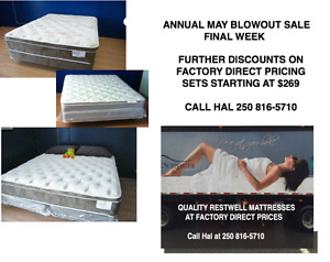 ONE WEEK LEFT IN ANNUAL MAY BLOWOUT MATTRESS SAEL