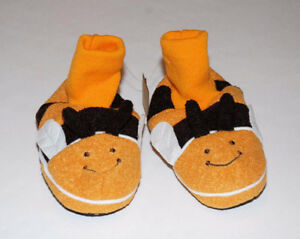 Buzz NEW Bumble Bee Baby GAP Slippers Fleece Ankle Soft NEW!