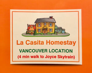 1BR $950 (Meals) Homestay  1 Zone (Joyce Skytrain) - 4 min walk