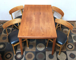 Superb  Mid Century  Farstrup Teak & Beech Dining Set SEE VIDEO