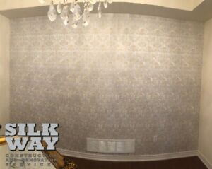 Wallpaper/Carpentry/Crown Moldings/Painting