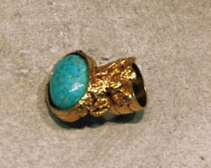 YSL Torqoise Artsy Ring