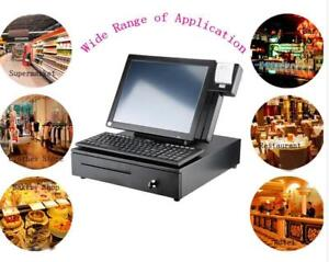 Touch Screen Cash Register Restaurant Pos Machine With Cash Drawer Printer (028019)