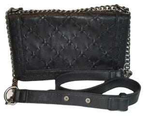 Forever 21 sac à main ou épaule en cuir noir avec chaînette