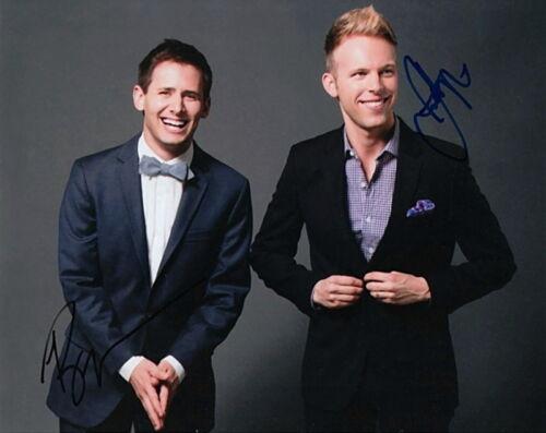 BENJI PASEK and JUSTIN PAUL.. Dear Evan Hansen Songwriting Duo - SIGNED