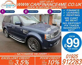2010 RANGE ROVER SPORT 3.0 TDV6 HSE GOOD / BAD CREDIT CAR FINANCE FROM 99 P/WK