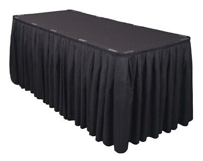 Unprinted Accordion Pleat Trade Show Table Skirts