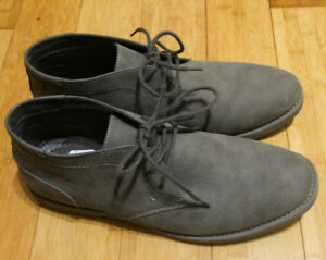 Men's Grey Charcoal Dress Shoes (Formal Footwear, Size 12)