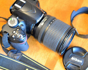 Nikon D3200 with 18-135 zoom