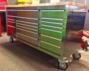 STAINLESS STEEL F҉A҉T҉ ҉B҉O҉Y҉'҉  TOOL BENCH TOOL BOX WORK BENCH