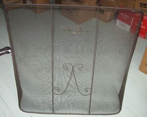 ANTIQUE FREE-STANDING FIREPLACE SCREEN
