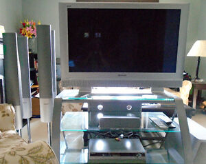 PLASMA TV WITH STAND AND SURROUND SYSTEM Stratford Kitchener Area image 1