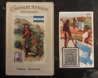 Mint Honduras Trade Cards For Belgian Chocolates Covers Antoine & Kwatta