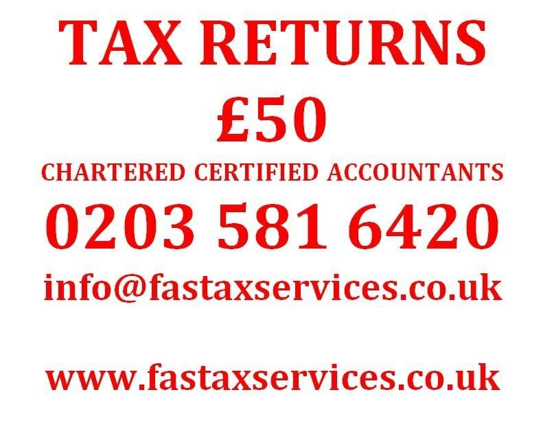 Tax Returns for £50, Companies Accounts for £75 - Quality services at low cost