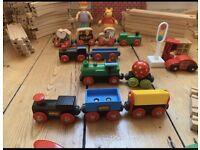 Brio wooden train set