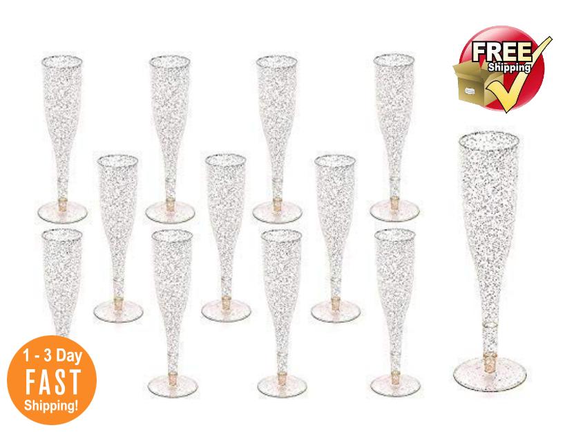 Para Boda y Fiesta NEW Copas De.Champaña Desechables De Plástico 105 Pieces