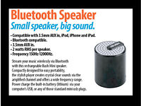 Small Bluetooth Wireless Portable Speaker, ideal for iPhone iPod or iPad, usb lithium rechargeable