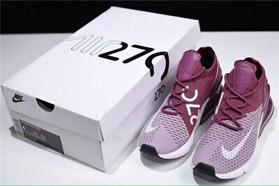 NIKE AIR MAX 270 FLYKNIT AO1023 500 BURGUNDY WHITE MAROON WINE MEN'S SHOES