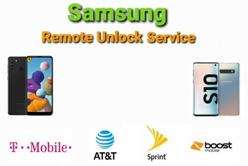 Samsung A11 A21 A51 S8 S9 Remote Unlock Service & Google Account Removal Service