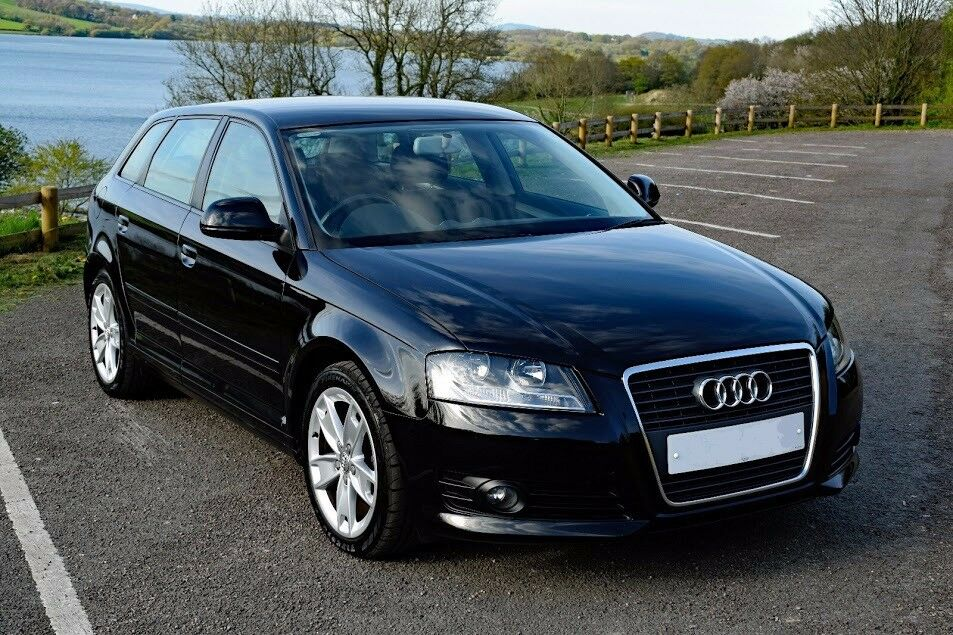 audi a3 sportback 1 9 tdi sport 2008 58 plate metallic black facelift diesel in caerleon. Black Bedroom Furniture Sets. Home Design Ideas