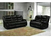 😎💥FACTORY SALE CHELSEA BONDED LEATHER RECLINERS WITH CUP HOLDER 3+2 S CORNER SOFA CHEAP BARGAIN