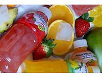 Mogu Mogu natural color juice drinks with Nata de Coco. Direct importer from manufacturer