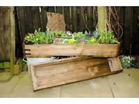 Sturdy wooden planter boxes
