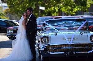 1957 CHEVY CONVERTIBLE & SEDAN WEDDING CAR HIRE MELBOURNE. Airport West Moonee Valley Preview