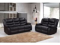 ROZINA 3 AND 2 SEATER RECLINER SOFA - CASH ON DELIVERY OR FINANCE