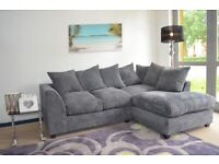 DYLAN JUMBO CORD CORNER OR 3+2 SEATER SOFA SET AVAILABLE IN STOCK