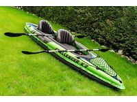 Certified Intex Challenger K2 Kayak boat - Only used 2 times- Stable, Steady and very durable
