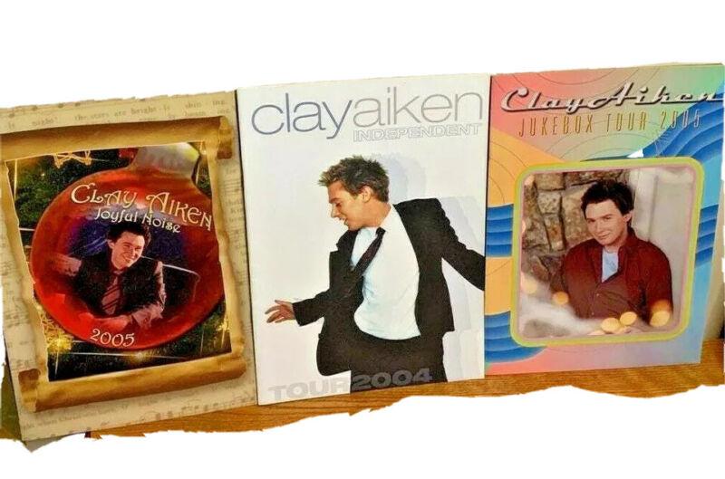 Clay aiken concert programs lot Independent Jukebox Joyful noise 2005