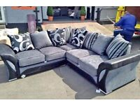 GLORIOUS SALE ON BRAND NEW SHENON BLACK AND GREY CORNER AND 3+2 AVAILABLE IN STOCK ORDER NOW