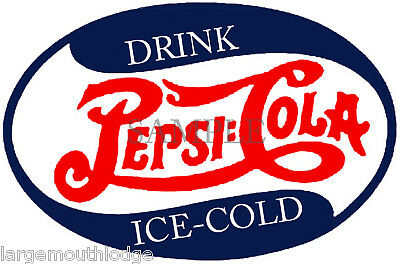 PEPSI VINTAGE STYLE OVAL DECAL GUMBALL MACHINE 2""