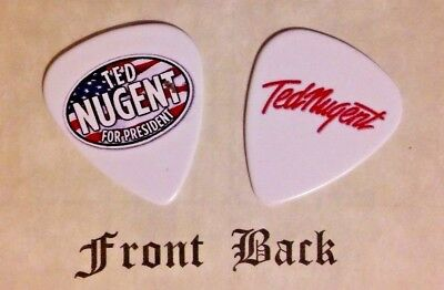 TED NUGENT band logo signature guitar pick -(S)