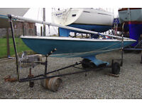 Classic Flying Fifteen 15 F15 keeled sailing dinghy, keel boat, gc. Trailer available. Sale or swap