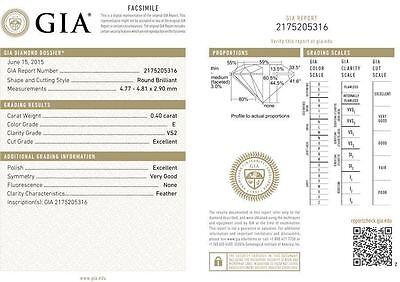 15 carat Round Diamond Tennis Bracelet 18k Gold 37 x 0.40 ct GIA cert. E-F VS 2