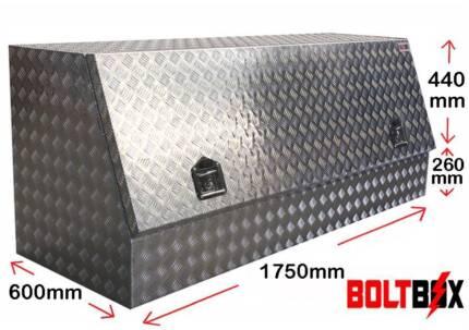 Boltbox Highside 2.5mm Aluminium Toolbox with Shelf L1750mm