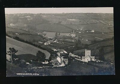 Devon BRANSCOMBE Panoramic view Church c1900/20s? RP PPC by Chapman