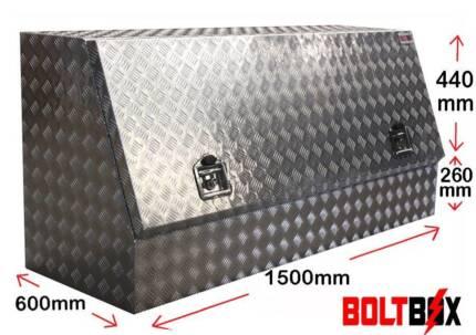 Boltbox 2.5mm Highside Aluminium Toolbox with Shelf L1500mm