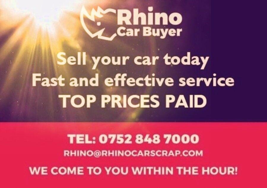 RHINO CAR SCRAP | Sell my car today , IMMEDIATE CASH , cars & Vans ...