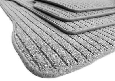 Fußmatten passend für Mercedes E-Klasse W210 S210 Premium RIPS Teppich silber