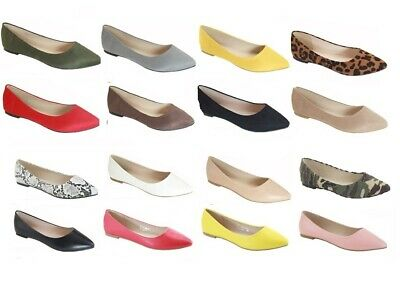 New women lady basic pointy toe  ballet flats slip on loafer  shoes  all - Ballet Flats Womens Shoes